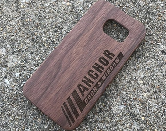 Personalized Custom Business Logo Real wood laser engraved phone case Iphone 6 6s 6s plus 7 7plus 8 8plus birthday, christmas, anniversary