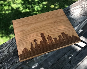Philadelphia Skyline Cutting Board Handmade, Kitchen Gifts for Mom, Pennsylvania Cutting Board, City Silhouette Chopping Board, Realtor Gift
