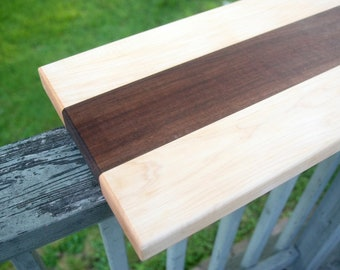 Giant Maple and Walnut Face Grain Cutting Board with Finger Holds for Wedding Gifts, Housewarming Gifts, Kitchen Decor, Housewarming Gifts