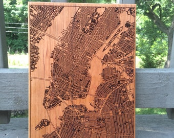 Custom Street Map New York City Art, NYC Wall Art, Moving Away Gift, Mothers Day From Daughter, New Home Housewarming Gift, Entryway Decor