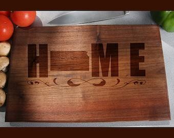 Kansas Custom Engraved Cutting Board, Wedding Gift, Home Decor, Anniversary Gift, Bridal Gift, Birthday