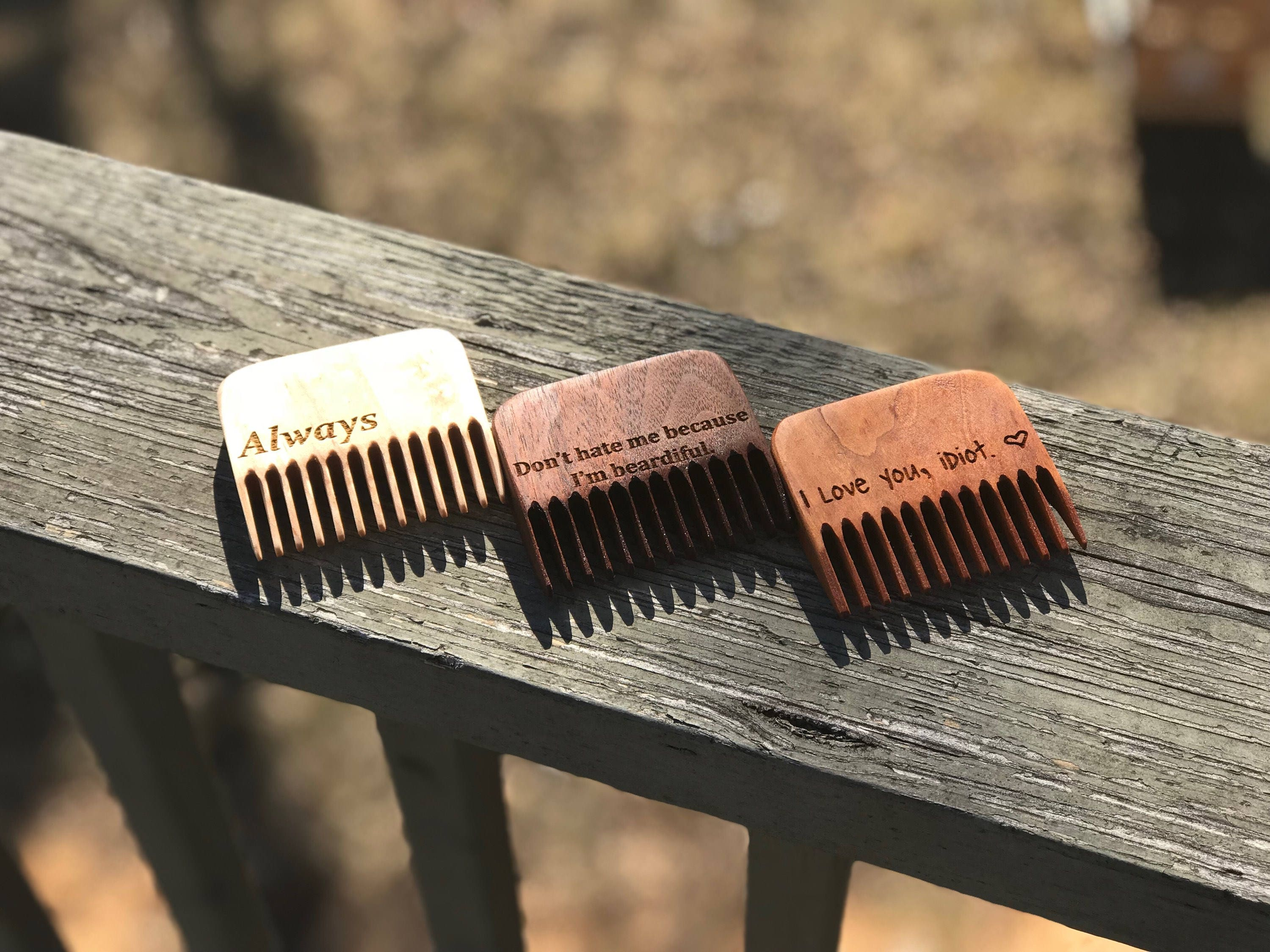Personalized Beard Comb Beard Care Products Wedding Day Gift For