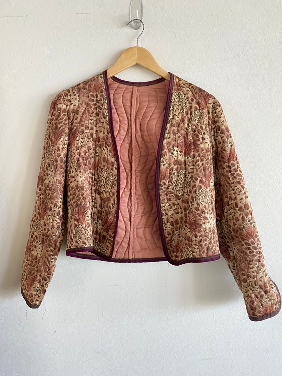 Vintage Indian Quilted 70s Phool Jacket , Indian P