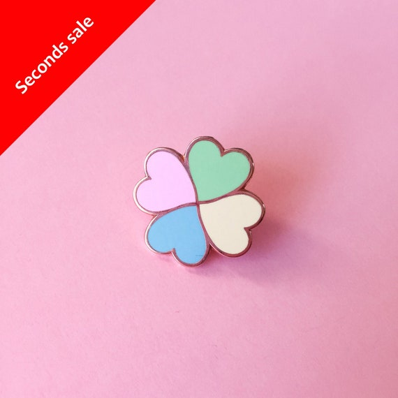 Pastel Stud enamel pin  pastel geometric enamel pin   cute hard enamel pin  geometric badge  15 mm pin badge