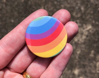 Pride Rainbow button badge, 38 mm button badge, pride backpack badge, friendship token