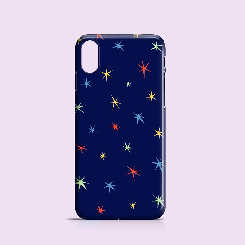 hot sales 43942 b1d36 Colour Stars phone case / stars iPhone X case / Dark blue iPhone 8 case /  iPhone 7 / iPhone 7 Plus / iPhone 6/6S, 5, 5S, SE, Samsung Galaxy