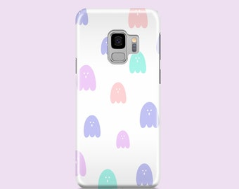Pastel Ghosts iPhone XS case, Halloween iPhone 12 case, iPhone 11 Pro, cartoon style iPhone 8, Samsung S10, S9,  S7 case, iPhone 7, iPhone X