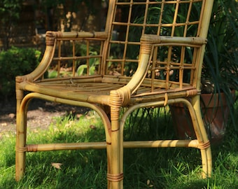 B Vintage Bamboo Chair Rattan Wicker Chair Local Pick Up Chicago  Area Or Your Shipper