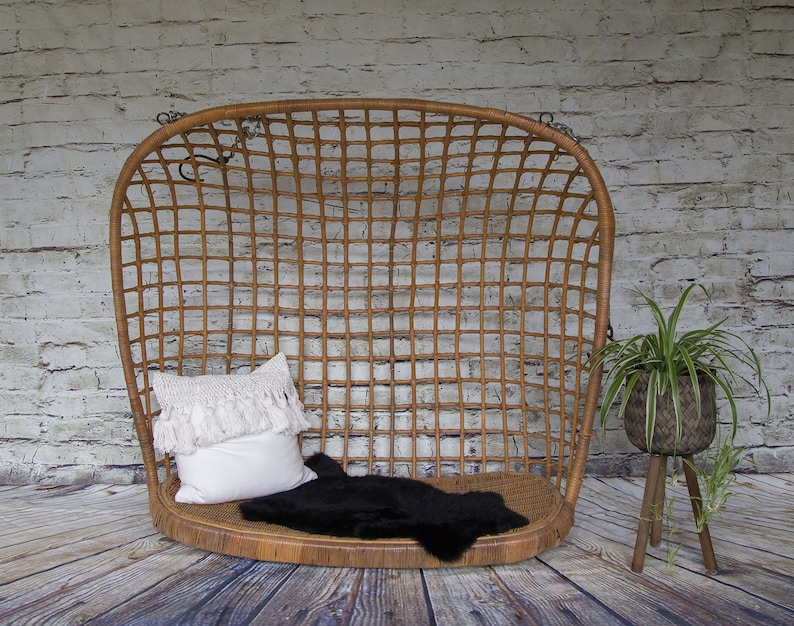 Merveilleux SHIPPING NOT FREE! Vintage Bamboo Hanging Chair /Rattan Hanging Egg  Chair/Swing Chair No Stand/