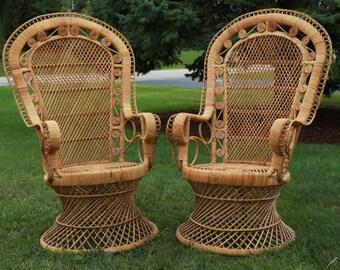 Rattan/Wicker Peacock Chairs/ LOCAL P/U Chicago, Il area or Your Shipper