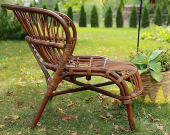 Vintage Bamboo, Rattan, Wicker Chair/ LOCAL P/U Chicago, Il area or Your Shipper