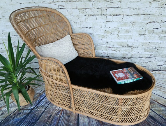 Fabulous Shipping Not Free Vintage Wicker Lounge Chair Accent Chair Rattan Chair Day Bed Pabps2019 Chair Design Images Pabps2019Com