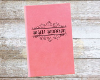 Personalized Leatherette Journal,Engraved,Lined,