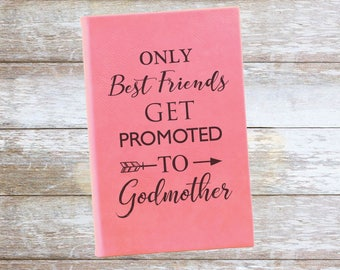 Personalized Godmother/Best Friend Leatherette Journal,Engraved,Lined,