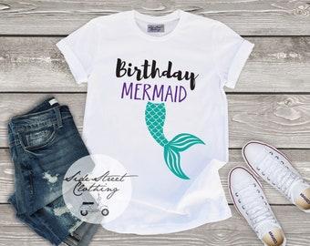 Birthday Mermaid T Shirt