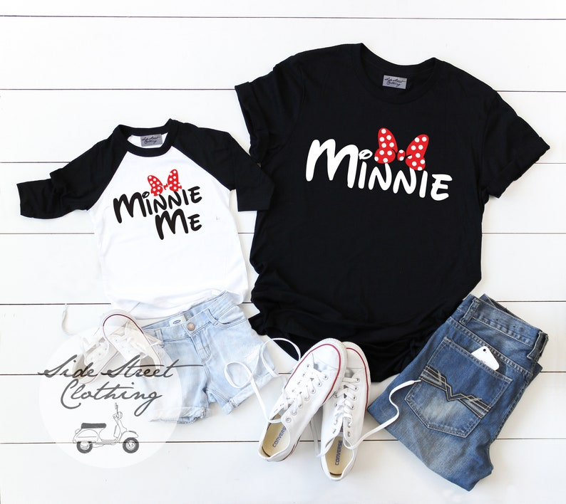 d5ddfc13 2 sets Minnie and Minnie Me T shirts Cost only custom | Etsy