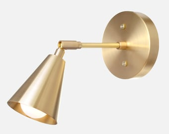 Solid Brass Shade Sconce Light