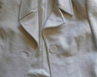 8a0b4afe555b5 vintage 1970 s white Pierre Balmain Paris jacket sz Medium