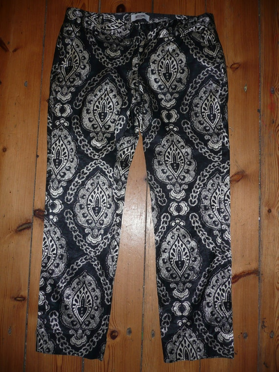 Moschino jeans  donna black white ladies pants capri trousers made in Romania