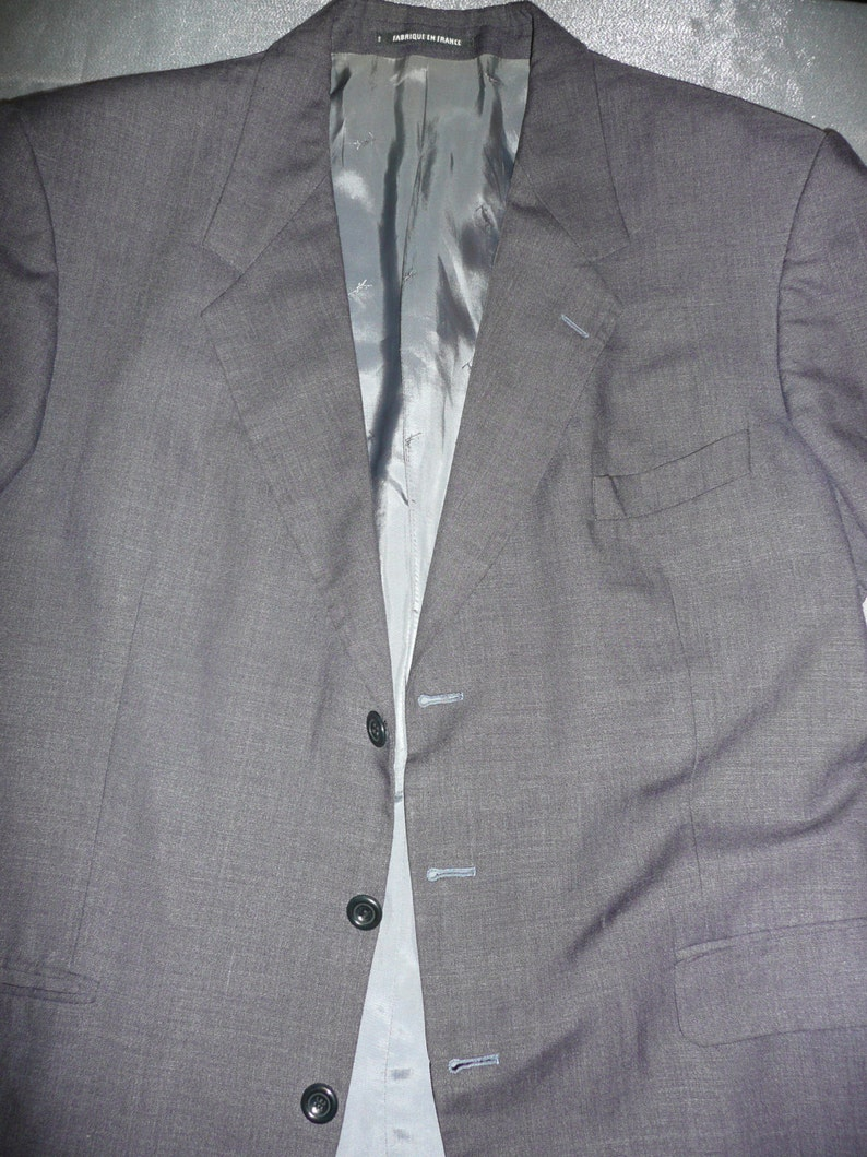 4a4cf86f Vintage Men's YSL Pour Homme gray Jacket blazer made in | Etsy
