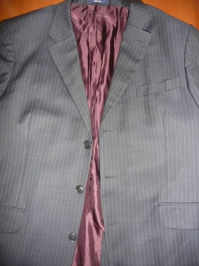 48aa7eb8 Kenzo Homme black and brown striped Vintage Jacket blazer | Etsy