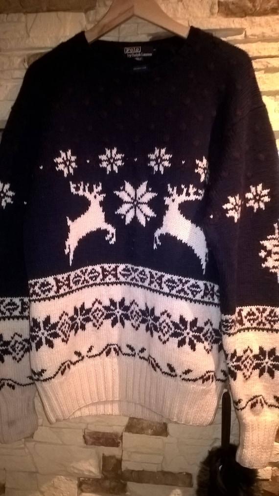 Polo by Ralph Lauren knit 100% wool  winter sweate