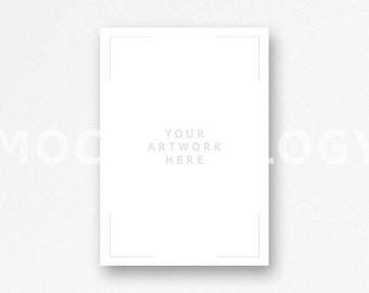 Download Free A3 Vertical White Hanging Canvas Mockup, Poster Mockup Stock, Styled Stock Photography, White Background, INSTANT DOWNLOAD PSD Template