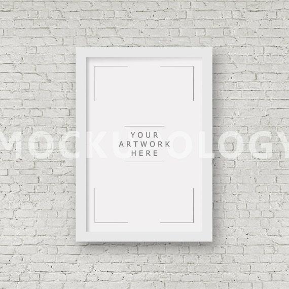 8x12 16x24 24x36 Vertical DIGITAL White Frame Mockup Styled