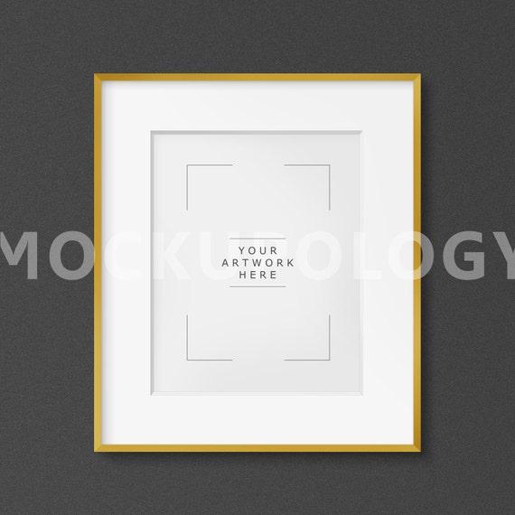 8x10 Vertical Digital Clean Matted Gold Frame Poster Mockup Etsy