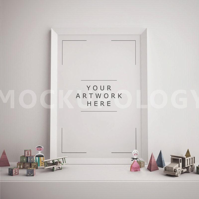 Vertikale weiße Rahmen Mockup Poster Mockup gestylt Mockup | Etsy