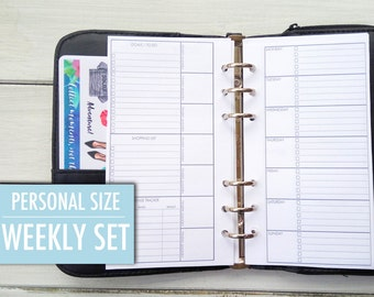 Filofax Personal Personal Size Insert Personal Planner Filofax Insert Filofax Filofax Printables Weekly Planner Kikki k Planner Meal Planner