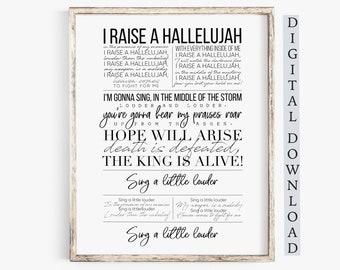 graphic regarding Free-printable Southern Gospel Song Lyrics named Worship lyrics Etsy