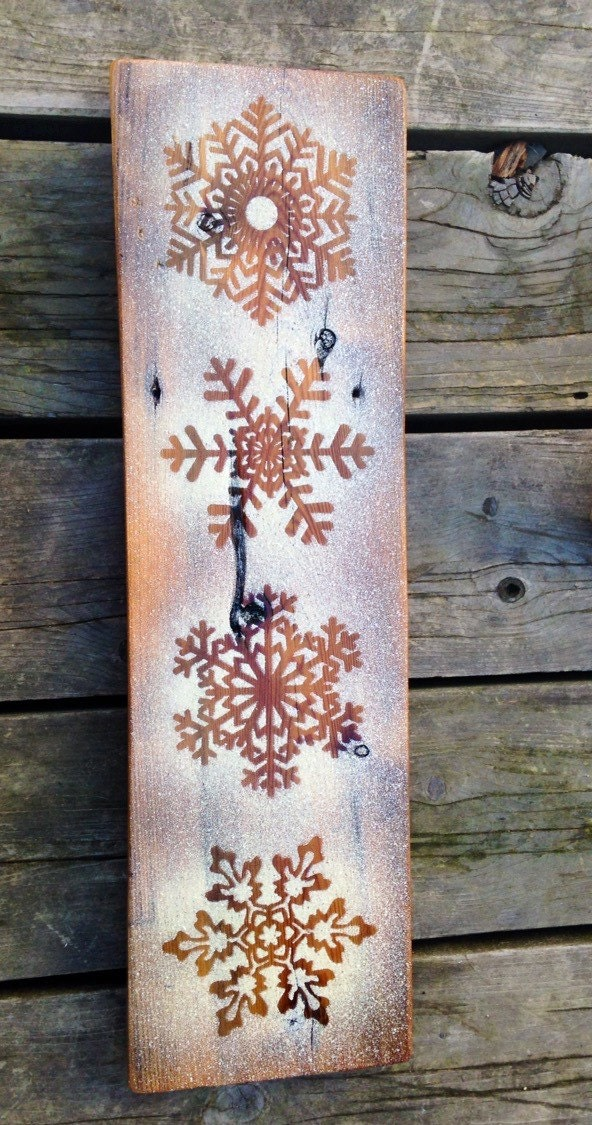 Rustic snowflake winter wall decor rustic christmas decor ...