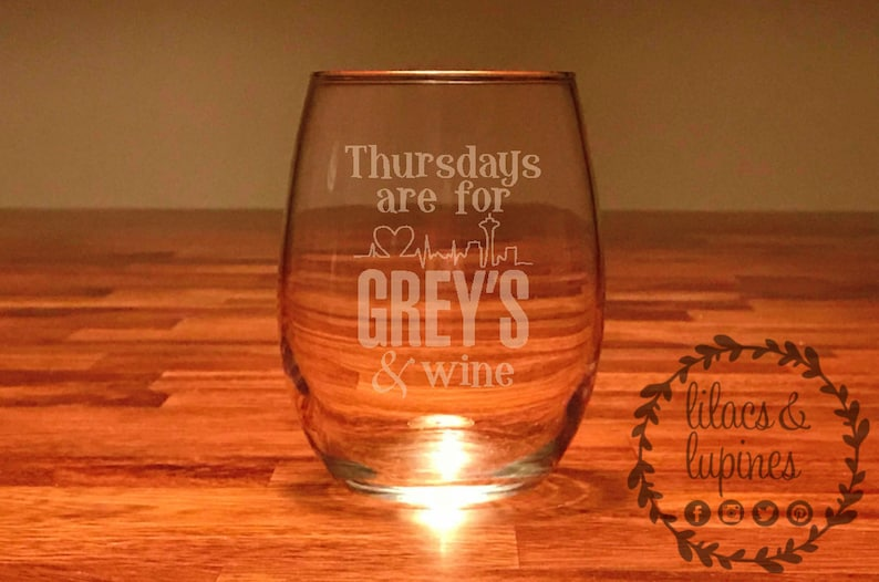 Thursdays Are For Greys And Wine Greys Anatomy Etsy