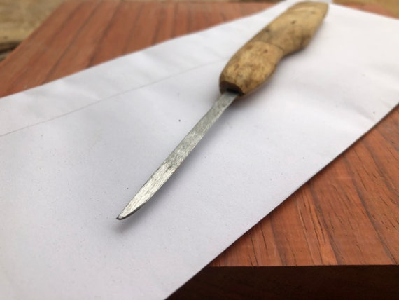 Gold Luxury Paper Knife, Mens Gift, Office Paper Knife, Cheese Knife, Recycled Wood Paper Knife