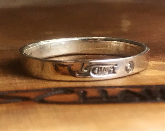 Silver men wedding ring. A diamond engagement ring to be personalized, Original gift handmade in Canada