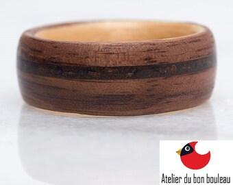 Geek Wedding Ring, Geek Gifts, Geek Gift, Geek Jewelry, Geek Wedding, Geek Ring, Gift For Geek, Geek Girl, Ring, Wood, Raw Engagement Ring