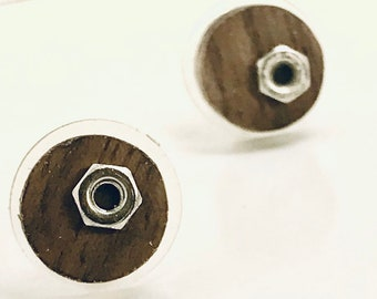 wooden earring,organic earrings,wood hoops,wood cabochon,dangle wood earrings,wood dangle earrings,wood shape, original wood,brown