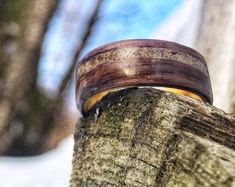 Montreal Ring, Collection Rings of the World, Concrete Ring from Old port of Montreal, Mens wedding band, Mens Wooden ring, wedding ring,