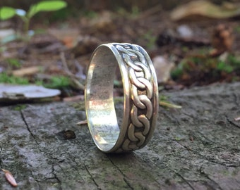 Silver Ring 925, Unisex Rings, Wood Wedding Band, Men Wood Rings, Women Wood Rings, Women's Wood Ring, Womens Wood Rings, Wood Wedding Bands