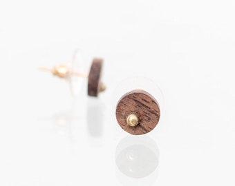 simple black studs,round flat studs,one stud earring,unisex earring,sage earrings,sage green jewelry,flat round earrings,flat black earring