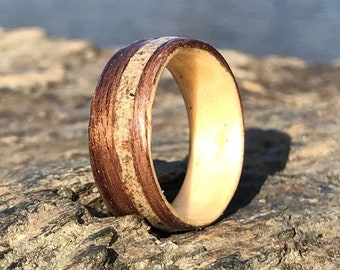 New York Ring, Collection Rings of the World, Central Park Concrete Ring 110th Bridge, Wood ring, Wooden wedding rings,Wood engagement ring,