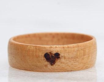 Mens wedding band, Wooden wedding ring, Wedding band, Man wedding band wood, Wood wedding ring, Man engagement ring, Man wood wedding band,