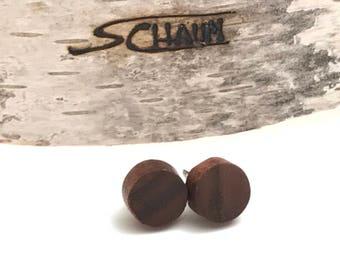 wood stud earrings, sage green jewelry,sage earrings,mint studs,flat black earrings,sage green earrings,round studs,unisex earrings,