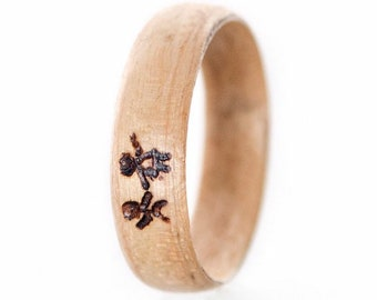 Mpale Ring, Wood wedding band, Wooden ring for woman, Ring, Wood ring, Mens wedding band, rings,  Jewelry, Art deco ring, Eco friendly,