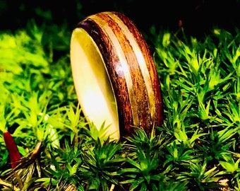Wood ring, Mens Wooden ring, Nature wedding ring, Promise ring set, Mens promise ring, Wedding band, Wood wedding band, Men wood ring