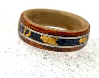 Wood Ring Men, Handmade Ring, Wood Wedding Ring, Lapis Lazuli Ring, Men's Wedding Bands, Wood Rings For Men, Wood Ring For Women, Bands