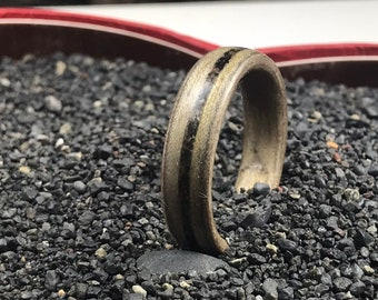 Reykjavík,Iceland, Black Volcanic Sand Ring, Collection Rings of the World, Wedding Band, Man wedding ring, Men's Wedding bands, Wooden ring