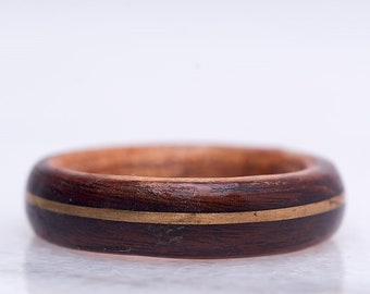 Mens wedding band, Gold Ring, Wood ring, wooden ring, Mens wedding ring, Wedding ring men, Wedding band mens, Mens wedding bands,