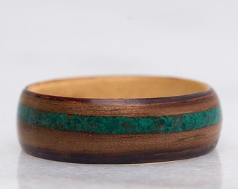 Mens wedding band , Mens engagement ring , Mens wedding rings,  Wood Ring, Wooden Ring, Bentwood Ring, Mens promise ring, Wedding band,